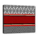 Background Damask Red Black Deluxe Canvas 24  x 20   View1