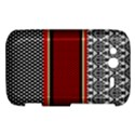 Background Damask Red Black HTC Wildfire S A510e Hardshell Case View1