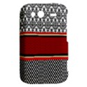 Background Damask Red Black HTC Wildfire S A510e Hardshell Case View2