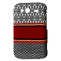 Background Damask Red Black HTC Wildfire S A510e Hardshell Case View3