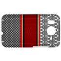 Background Damask Red Black HTC Desire HD Hardshell Case  View1