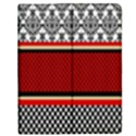 Background Damask Red Black Apple iPad Mini Flip Case View1
