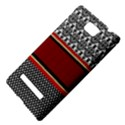 Background Damask Red Black HTC 8S Hardshell Case View4