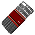 Background Damask Red Black Apple iPhone 5 Hardshell Case with Stand View4