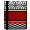 Background Damask Red Black Samsung Galaxy Tab 10.1  P7500 Flip Case View2