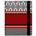 Background Damask Red Black Samsung Galaxy Tab 10.1  P7500 Flip Case View3