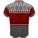 Background Damask Red Black Men s Cotton Tee View2