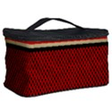 Background Damask Red Black Cosmetic Storage Case View2