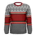 Background Damask Red Black Men s Long Sleeve Tee View1