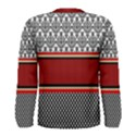 Background Damask Red Black Men s Long Sleeve Tee View2