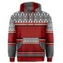 Background Damask Red Black Men s Pullover Hoodie View1