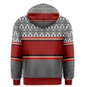 Background Damask Red Black Men s Pullover Hoodie View2