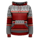 Background Damask Red Black Women s Pullover Hoodie View1