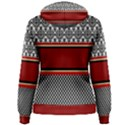 Background Damask Red Black Women s Pullover Hoodie View2