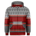 Background Damask Red Black Men s Zipper Hoodie View1