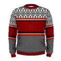 Background Damask Red Black Men s Sweatshirt View1