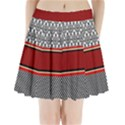 Background Damask Red Black Pleated Mini Skirt View1