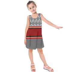 Background Damask Red Black Kids  Sleeveless Dress