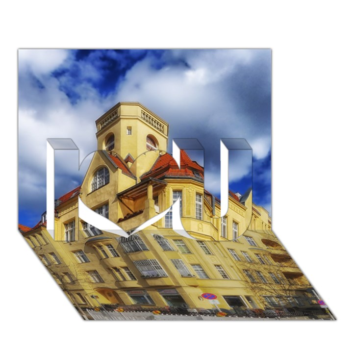 Berlin Friednau Germany Building I Love You 3D Greeting Card (7x5)