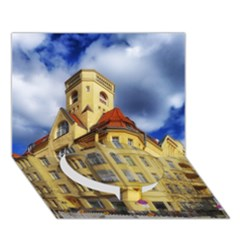 Berlin Friednau Germany Building Circle Bottom 3D Greeting Card (7x5)