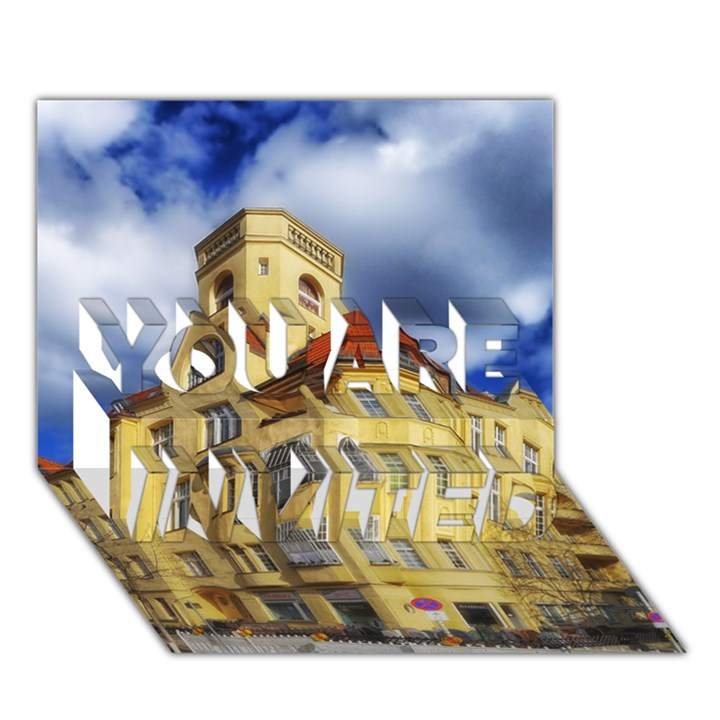 Berlin Friednau Germany Building YOU ARE INVITED 3D Greeting Card (7x5)