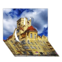 Berlin Friednau Germany Building Apple 3D Greeting Card (7x5)