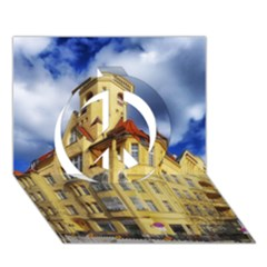 Berlin Friednau Germany Building Peace Sign 3D Greeting Card (7x5)