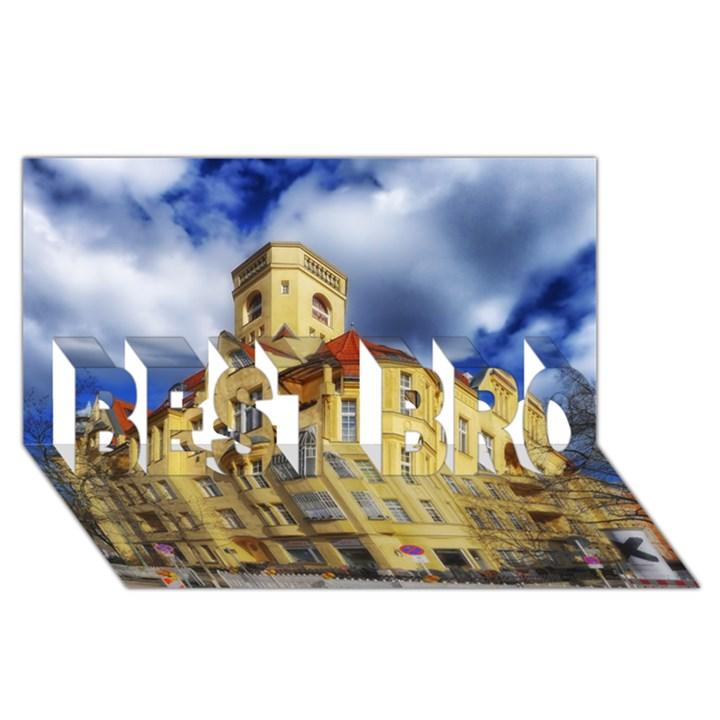 Berlin Friednau Germany Building BEST BRO 3D Greeting Card (8x4)