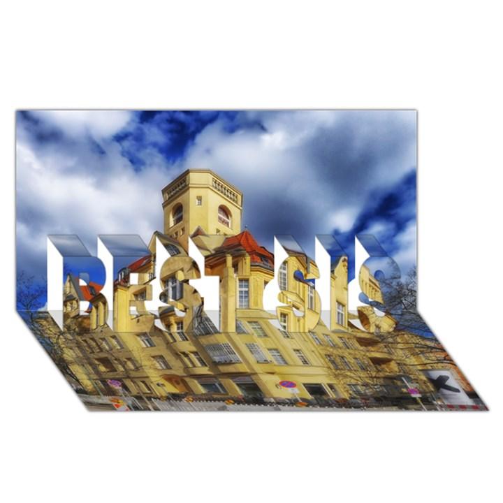 Berlin Friednau Germany Building BEST SIS 3D Greeting Card (8x4)