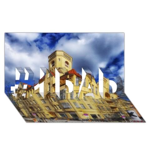 Berlin Friednau Germany Building #1 DAD 3D Greeting Card (8x4)