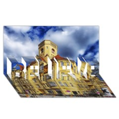 Berlin Friednau Germany Building BELIEVE 3D Greeting Card (8x4)