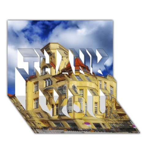Berlin Friednau Germany Building THANK YOU 3D Greeting Card (7x5)
