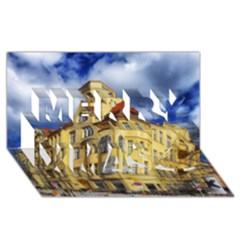 Berlin Friednau Germany Building Merry Xmas 3D Greeting Card (8x4)