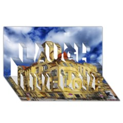 Berlin Friednau Germany Building Laugh Live Love 3D Greeting Card (8x4)