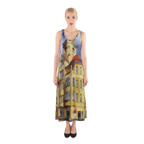 Berlin Friednau Germany Building Sleeveless Maxi Dress