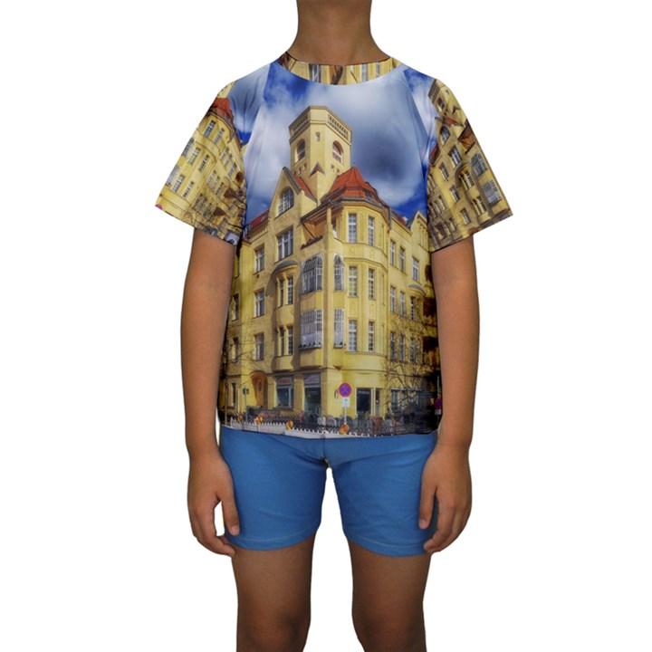 Berlin Friednau Germany Building Kids  Short Sleeve Swimwear