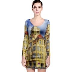 Berlin Friednau Germany Building Long Sleeve Bodycon Dress