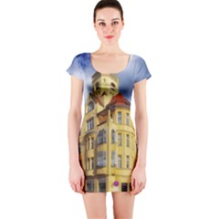 Berlin Friednau Germany Building Short Sleeve Bodycon Dress