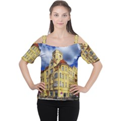 Berlin Friednau Germany Building Women s Cutout Shoulder Tee