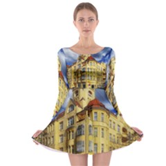Berlin Friednau Germany Building Long Sleeve Skater Dress
