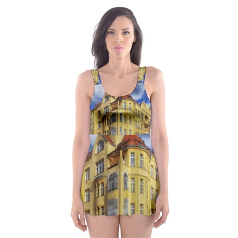 Berlin Friednau Germany Building Skater Dress Swimsuit