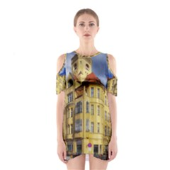 Berlin Friednau Germany Building Cutout Shoulder Dress