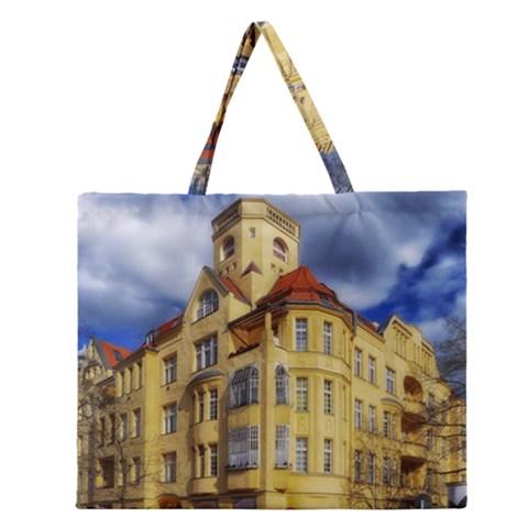 Berlin Friednau Germany Building Zipper Large Tote Bag