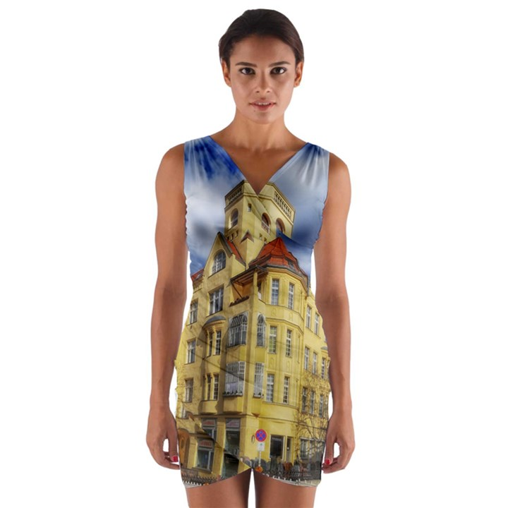 Berlin Friednau Germany Building Wrap Front Bodycon Dress