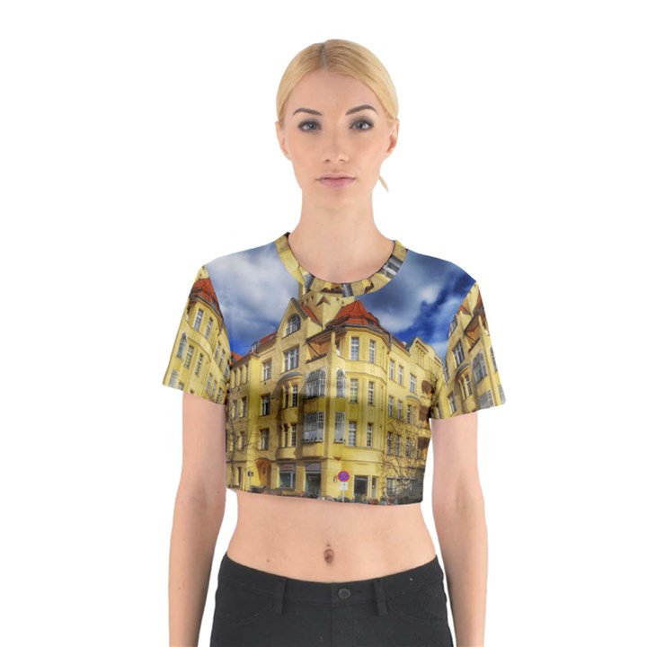 Berlin Friednau Germany Building Cotton Crop Top