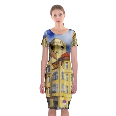 Berlin Friednau Germany Building Classic Short Sleeve Midi Dress