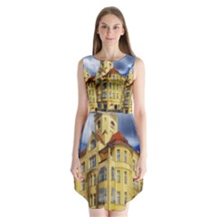 Berlin Friednau Germany Building Sleeveless Chiffon Dress