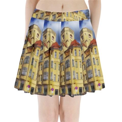 Berlin Friednau Germany Building Pleated Mini Skirt