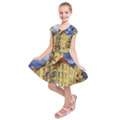 Berlin Friednau Germany Building Kids  Short Sleeve Dress