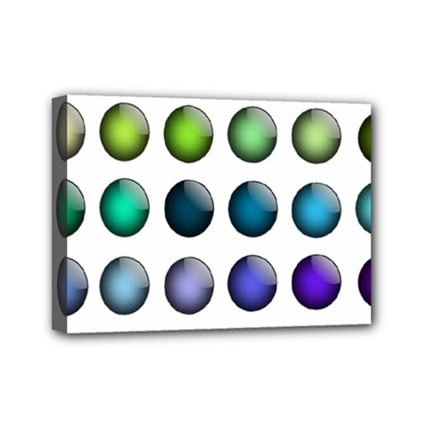 Button Icon About Colorful Shiny Mini Canvas 7  x 5